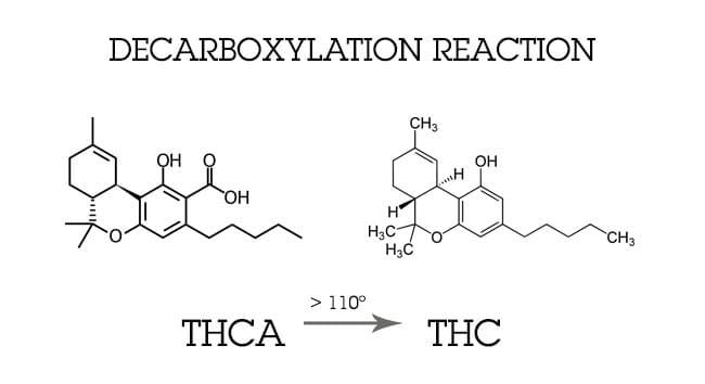 Decarboxylierung CANNABIS
