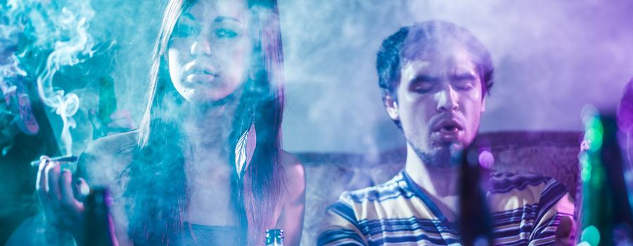 Alkohol- und Cannabiskombination