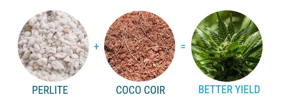 Perlit und Fibra de Coco Kokosfasern