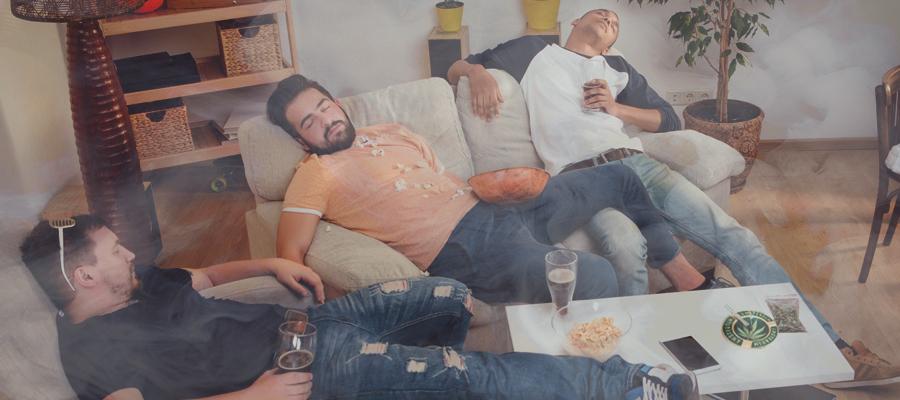Schlafen erholen Kater Cannabis