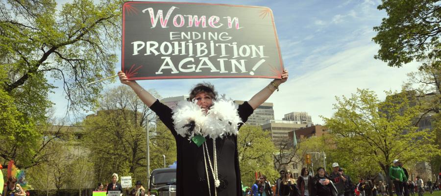 Frauen Feminismus Cannabis führenden Revolution Legalisierung