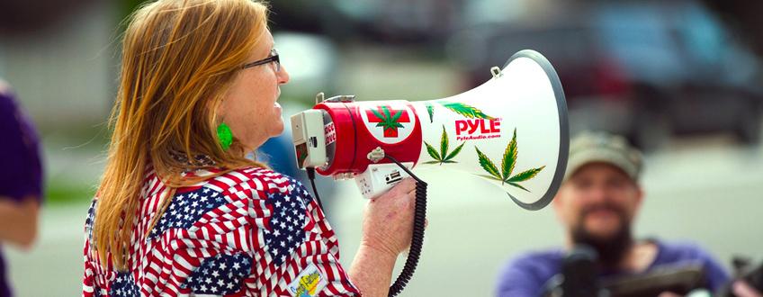 Cannabis Demonstration USA Staaten legalisiert Trump