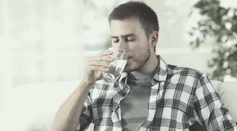 Trinke viel wasser